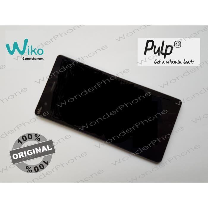 Ecran complet vitre tactile lcd assembl wiko pulp 4g for Photo ecran wiko pulp