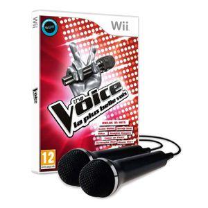 JEUX WII The Voice : La Plus Belle Voix + 2 Micros Jeu Wii