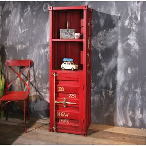 miliboo tag re industrielle m tal rouge cargo achat. Black Bedroom Furniture Sets. Home Design Ideas