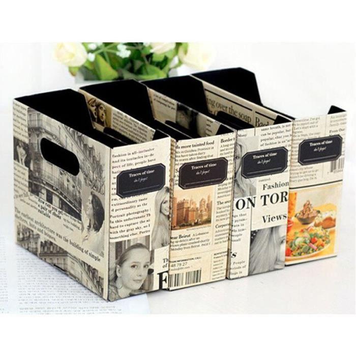 Bo te rangement en papier bricolage journal bureau papeterie cosm tique a - Rangement papier maison ...