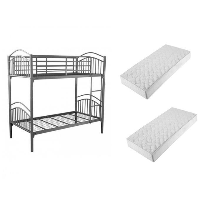 lit superpos alice 2 matelas le best achat vente. Black Bedroom Furniture Sets. Home Design Ideas