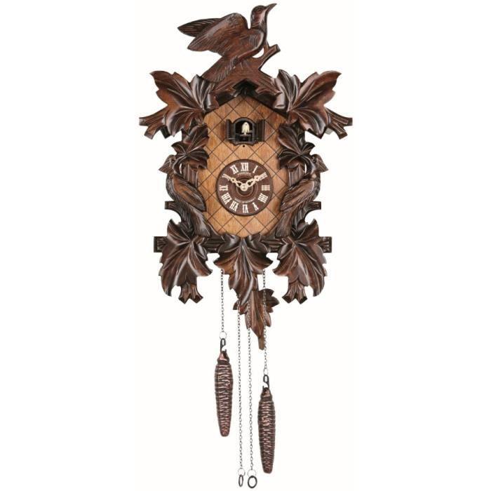pendule coucou quartz 7 feuilles 3 oiseaux achat vente horloge cdiscount. Black Bedroom Furniture Sets. Home Design Ideas