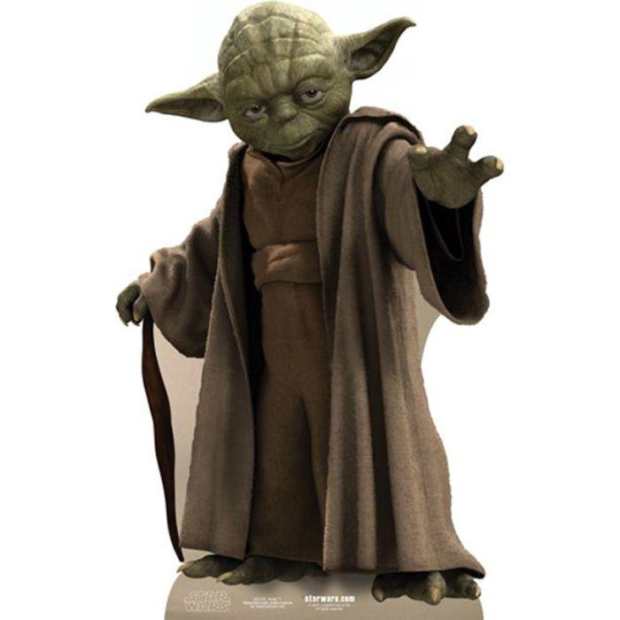 Figurine en carton taille r elle yoda star wars achat - Personnage de starwars ...