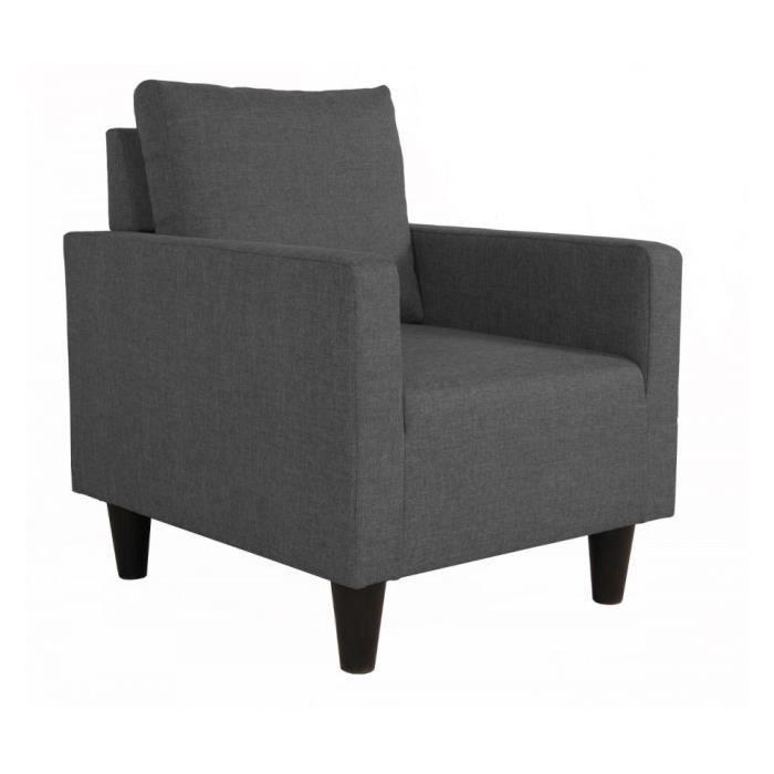 Fauteuil fixe luiziana gris anthracite achat vente fauteuil gris soldes - Fauteuil gris anthracite ...