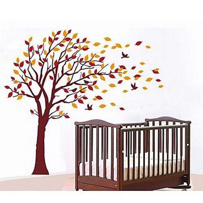 affiche murale arbre feuilles mortes achat vente affiche cdiscount. Black Bedroom Furniture Sets. Home Design Ideas