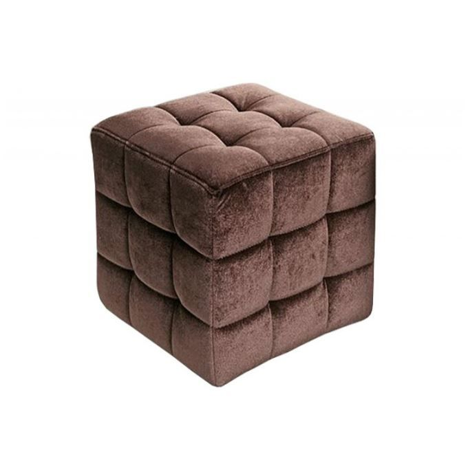pouf en velours capitonn choco monaco achat vente pouf poire velours cdiscount. Black Bedroom Furniture Sets. Home Design Ideas