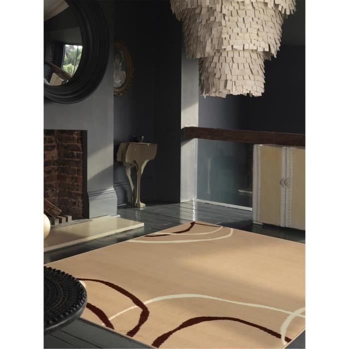 benuta tapis swing marron clair 180x280 cm achat vente tapis cdiscount. Black Bedroom Furniture Sets. Home Design Ideas