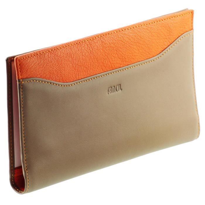 compagnon porte ch 233 quier femme portefeuille e orange multicolore beige achat vente tout