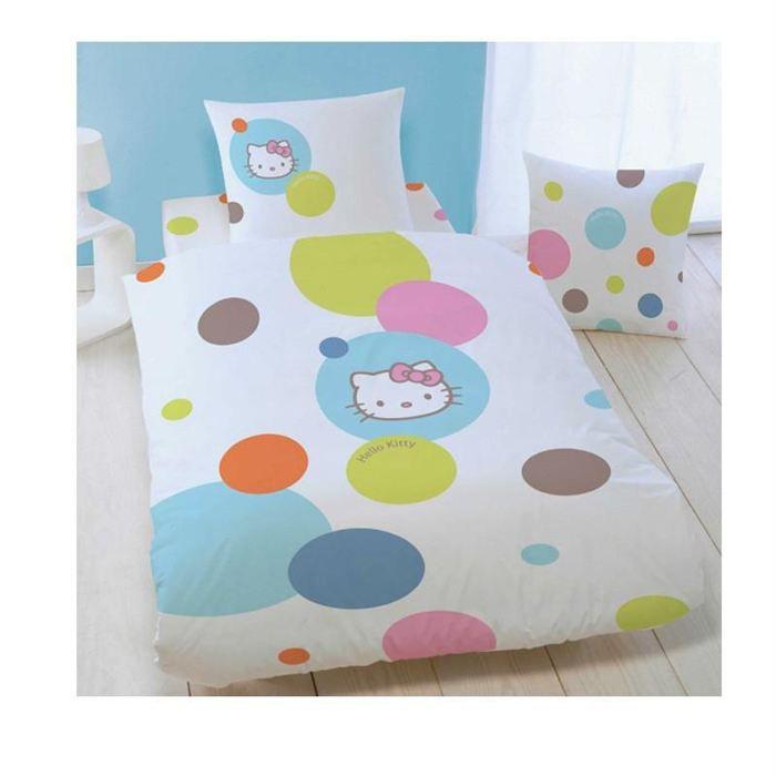 drap housse hello kitty bulles 140 x 190 cm achat vente drap housse cdiscount. Black Bedroom Furniture Sets. Home Design Ideas