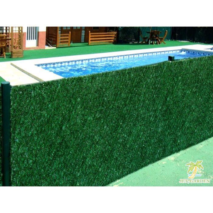 Haie artificielle v g tale 243 brins 3 x 1 50 m achat vente haie de jardin haie for Cloture de jardin en toile