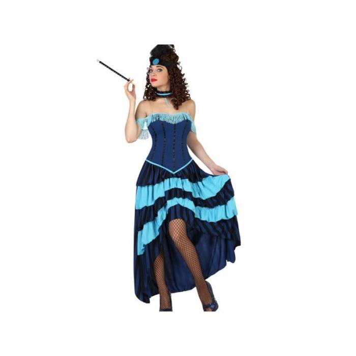 Déguisement robe longue cabaret bleue Superbe robe de cabaret dans