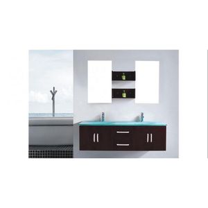 SALLE DE BAIN COMPLETE Meuble de salle de bain Gaïa  2 vasques + 2 miroir