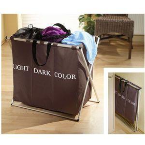 panier a linge avec compartiment achat vente panier a linge avec compartiment pas cher. Black Bedroom Furniture Sets. Home Design Ideas