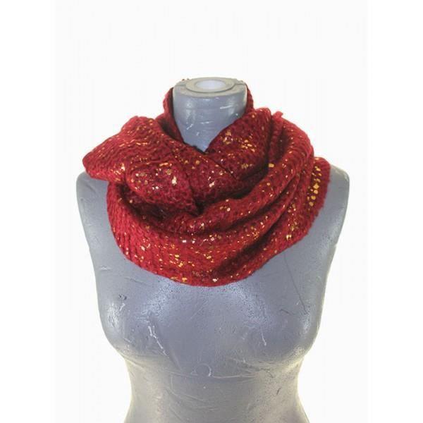 tour de cou femme rouge paillete et dore rouge achat vente echarpe foulard 2009953798512. Black Bedroom Furniture Sets. Home Design Ideas