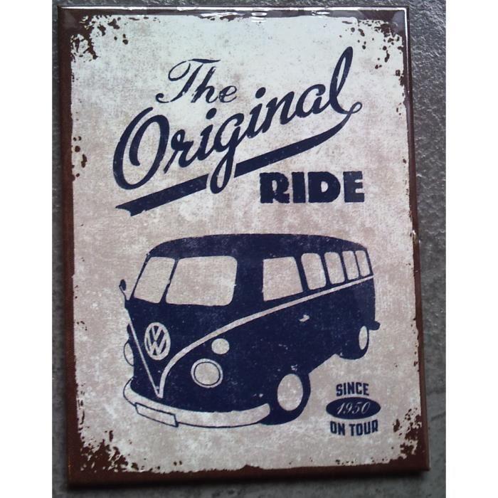 magnet frigo bus combi original ride volkswagen vw achat vente aimants magnets cdiscount. Black Bedroom Furniture Sets. Home Design Ideas
