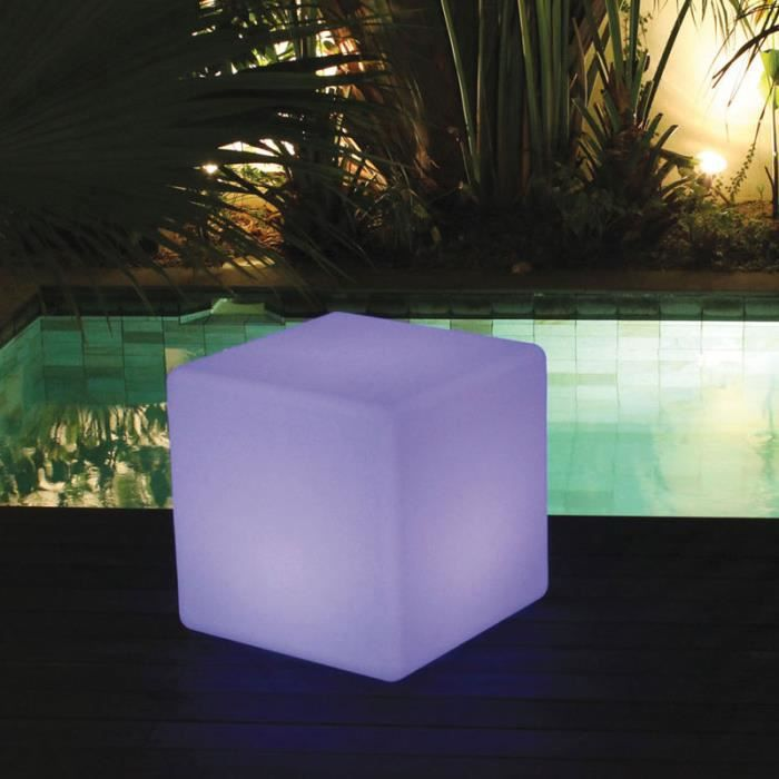 table cube lumineuse d 39 ext rieur achat vente table basse jardin table cube lumineuse d 39 ext. Black Bedroom Furniture Sets. Home Design Ideas