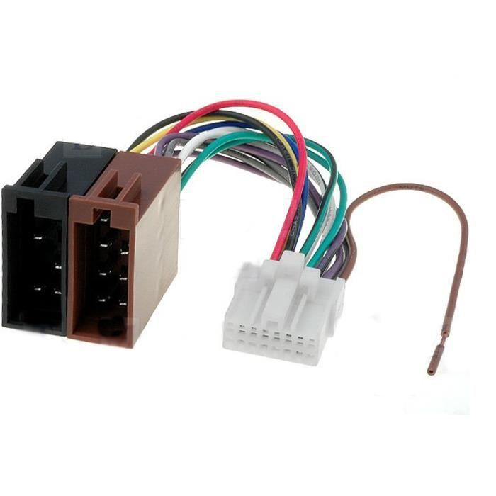 cable adaptateur faisceau iso pour autoradio panasonic 16 pin connecteur achat vente. Black Bedroom Furniture Sets. Home Design Ideas