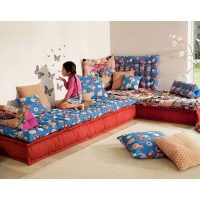 coussin futon 80x80cm becquet achat vente coussin cdiscount. Black Bedroom Furniture Sets. Home Design Ideas