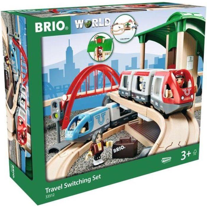 Kidskraft Train Table BRIO Circuit de 2 trains en bois Plateforme Voyageurs - Achat / Vente ...