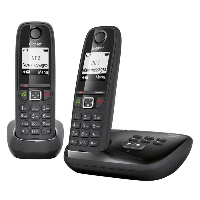 gigaset as405a duo t l phone sans fil dect gap avec. Black Bedroom Furniture Sets. Home Design Ideas