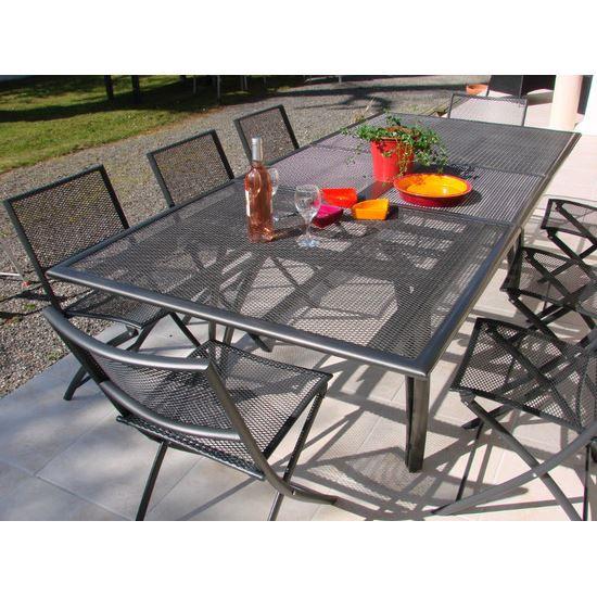 table de jardin perfor e rallonge achat vente table de jardin table de jardin perfor e ra. Black Bedroom Furniture Sets. Home Design Ideas