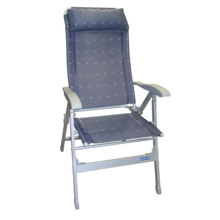fauteuil aluminium confort maxi bleu achat vente chaise de camping fauteuil alu confort maxi. Black Bedroom Furniture Sets. Home Design Ideas