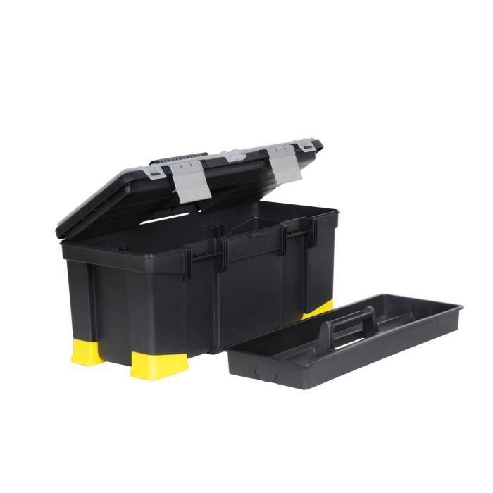 stanley boite outils vide hi viz 55cm achat vente boite a outils aluminium soldes. Black Bedroom Furniture Sets. Home Design Ideas