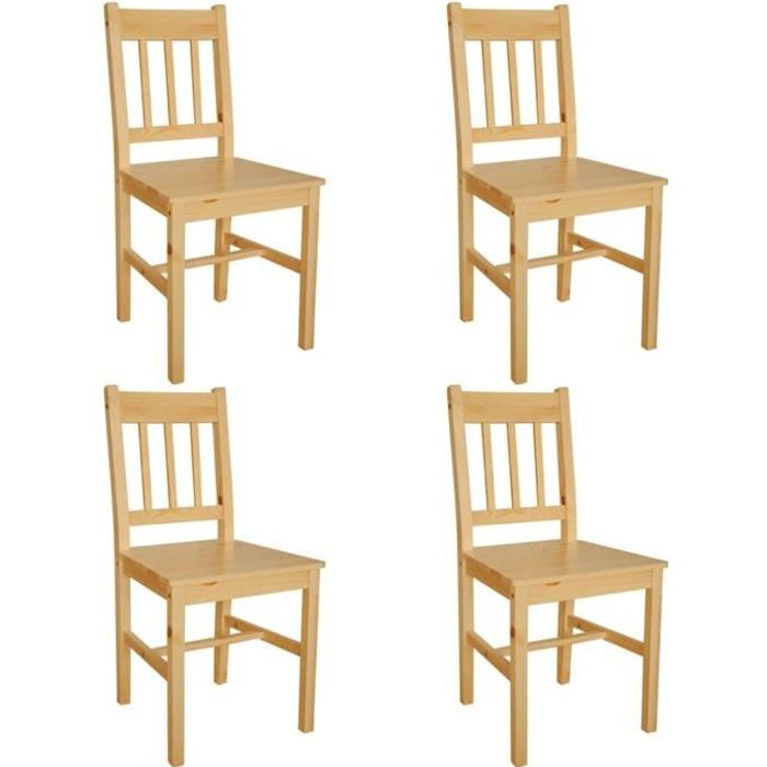 chaises en pin achat vente chaises en pin pas cher les soldes sur cdiscount cdiscount. Black Bedroom Furniture Sets. Home Design Ideas
