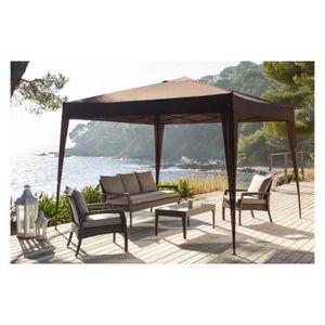 tonnelle pliante easy up 3x3 m hesperide choco achat. Black Bedroom Furniture Sets. Home Design Ideas