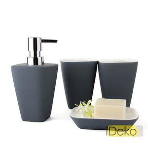set accessoires ideko set accessoires salle de bain 4 pieces mat - Vitrine Magique Accessoire Salle Deau