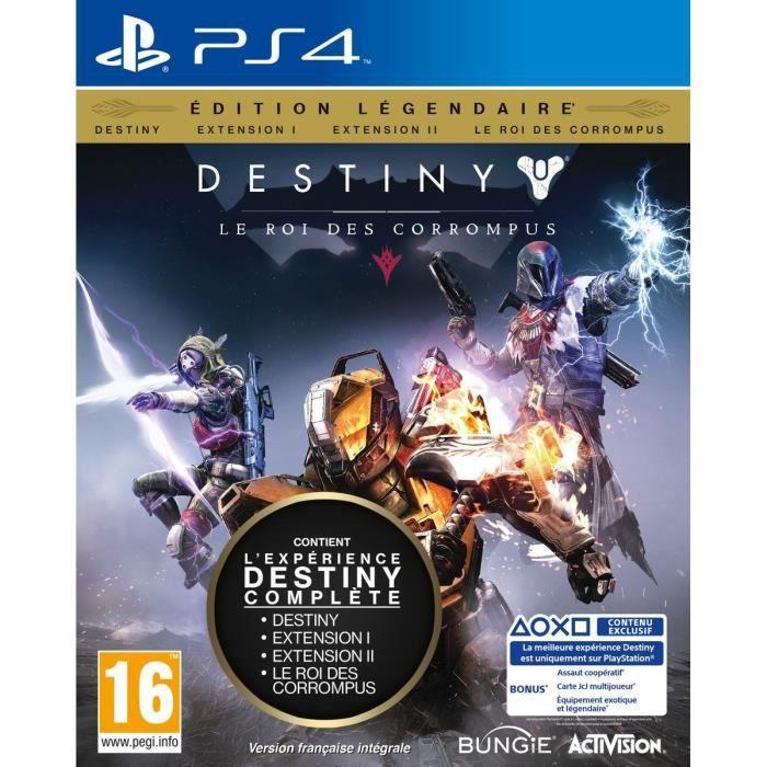 jeux pc video console ps destiny le roi des corrompus edition legendaire f