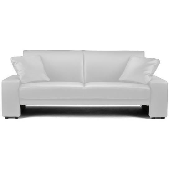 canape convertible design blanc achat vente canap sofa divan cdiscount. Black Bedroom Furniture Sets. Home Design Ideas