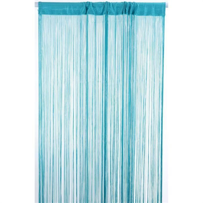 rideaux a fils rideaux de porte couleur turquoise 90 x 240 achat vente rideau de porte. Black Bedroom Furniture Sets. Home Design Ideas