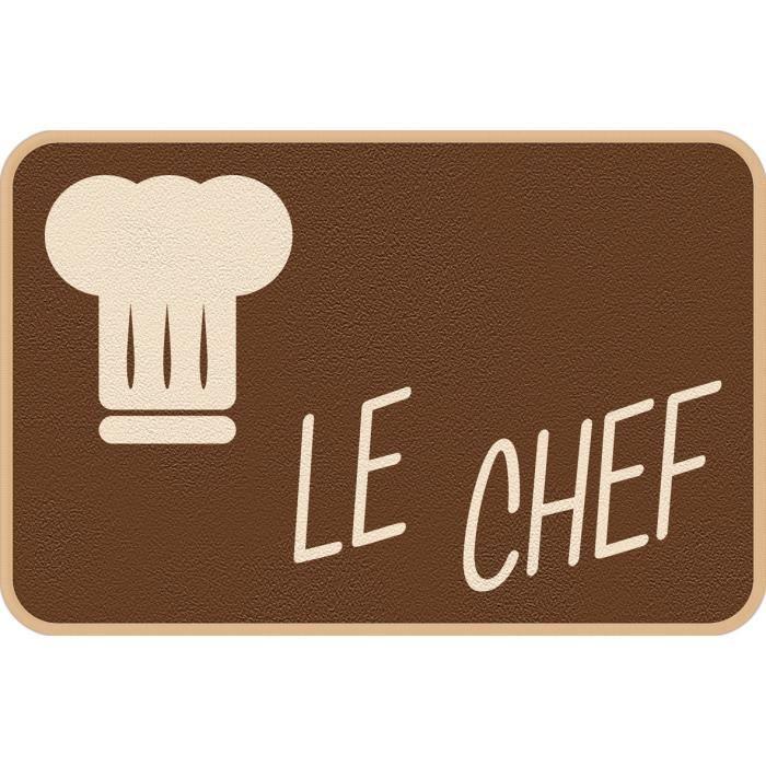 Deco kitchen le chef 40x60cm achat vente tapis de for Tapis de cuisine absorbant