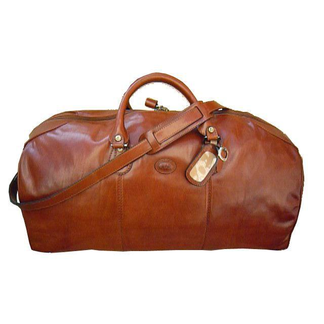 sac de voyage en cuir de coloris caramel marron achat. Black Bedroom Furniture Sets. Home Design Ideas