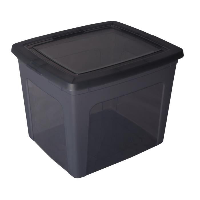 boite de rangement gris systeme de rangement cube de. Black Bedroom Furniture Sets. Home Design Ideas
