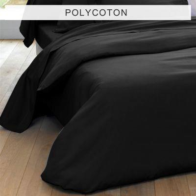 housse de couette unie polycoton 2 personnes achat vente housse de couette cdiscount. Black Bedroom Furniture Sets. Home Design Ideas
