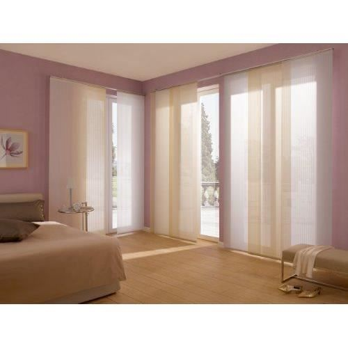 gardinia panneau japonais couleur unie 60 x 245 cm autre achat vente panneau japonais. Black Bedroom Furniture Sets. Home Design Ideas