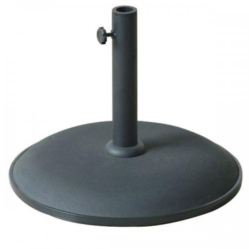 pied parasol 15 kg beton noir achat vente dalle pied. Black Bedroom Furniture Sets. Home Design Ideas