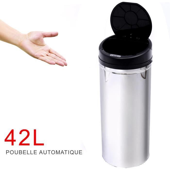 Poubelle automatique cuisine bureau capteuren acie achat - Poubelle coulissante ouverture automatique ...