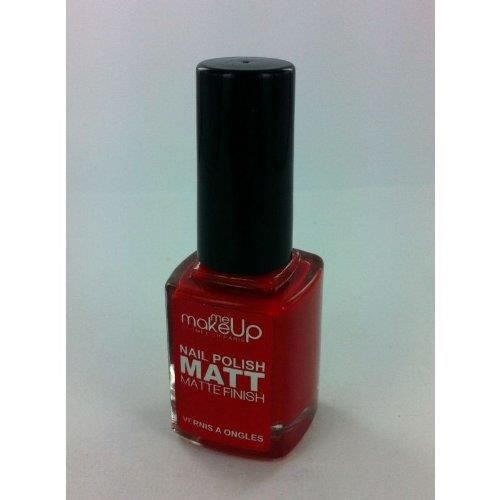 vernis ongles nail polish mat finish rouge achat vente vernis a ongles vernis ongles. Black Bedroom Furniture Sets. Home Design Ideas