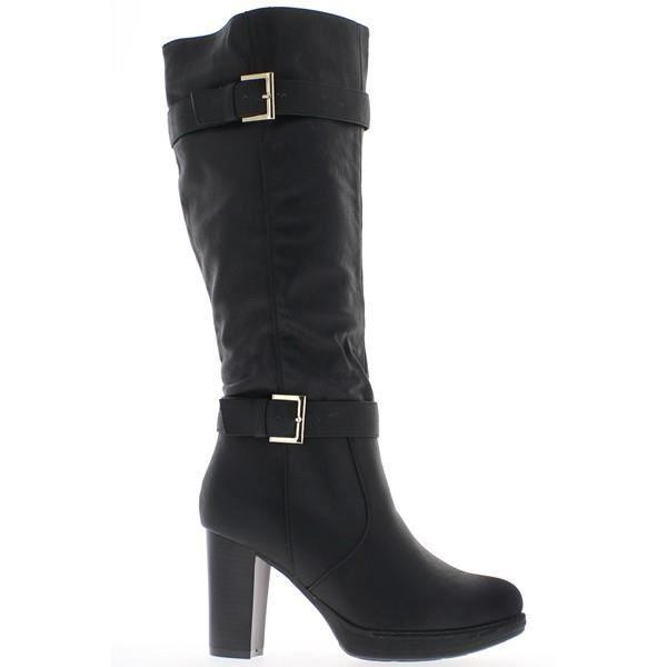 bottes femme noires talons de achat vente bottes femme noires noir pas cher cdiscount. Black Bedroom Furniture Sets. Home Design Ideas