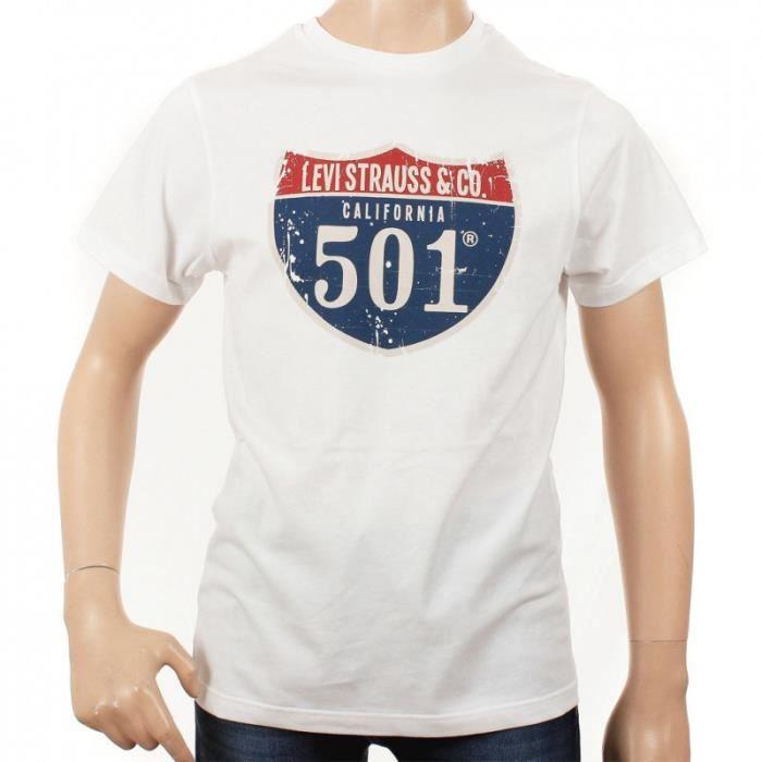 tee shirt levi 39 s enfant blanc achat vente t shirt cdiscount. Black Bedroom Furniture Sets. Home Design Ideas