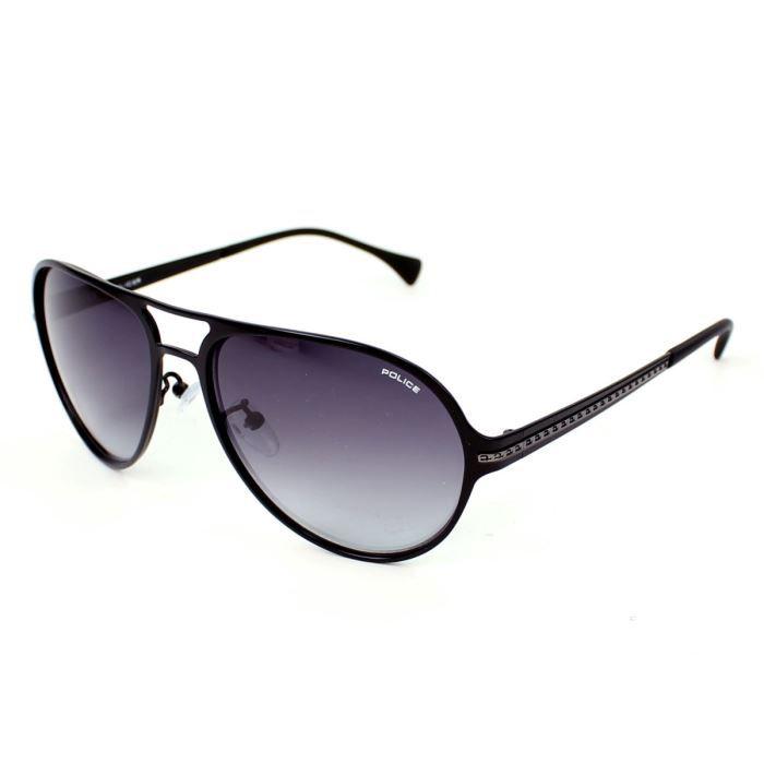 lunettes de soleil police s8750 noir verres gr noir gris achat vente lunettes de soleil. Black Bedroom Furniture Sets. Home Design Ideas