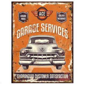 Deco plaques fer ou plaque emaillee  Plaque-decorative-en-metal-garage-services-orange