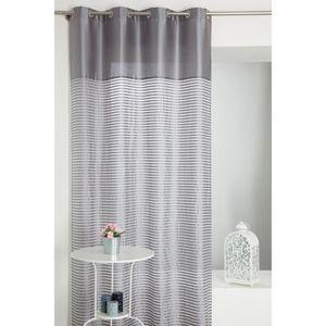 rideaux effet soie achat vente rideaux effet soie pas cher soldes cdiscount. Black Bedroom Furniture Sets. Home Design Ideas