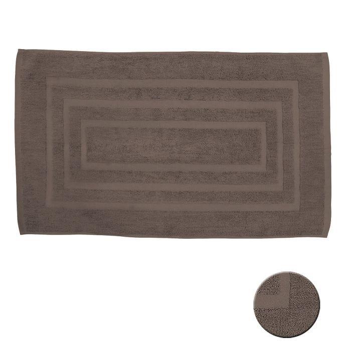 tapis de bain bronze 50x85 cm achat vente tapis de bain 100 coton cdiscount. Black Bedroom Furniture Sets. Home Design Ideas