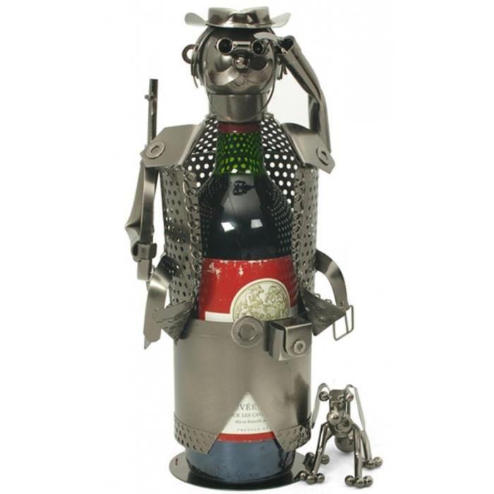 Porte bouteille chasseur avec son chien suppo achat vente porte boutei - Porte bouteille alcool ...