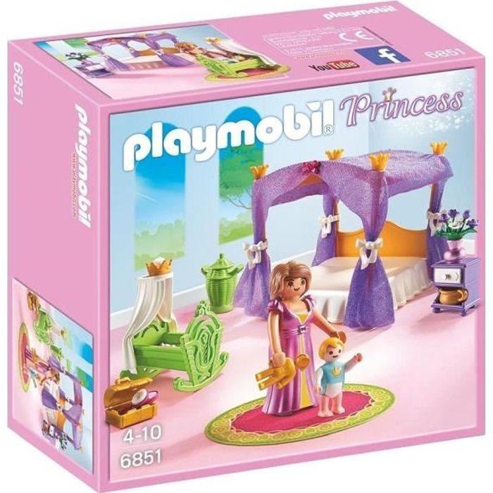 Playmobil 6851 chambre de la reine avec lit baldaquin achat vente univers miniature - Chambre princesse playmobil ...