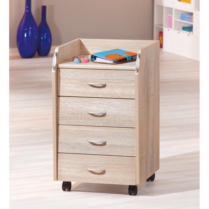 caisson de bureau sur roulettes 4 tiroirs achat vente caisson de bureau caisson de bureau. Black Bedroom Furniture Sets. Home Design Ideas